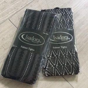 Set of fishnet tights. Black